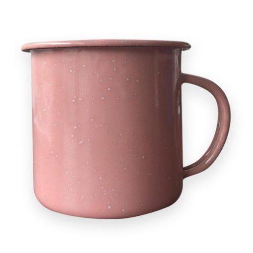 Taza Peltre Promocionales  Rosa