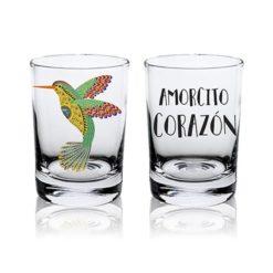 Shot Cristal Esencia Mexicana modelo Colibrí Transparente