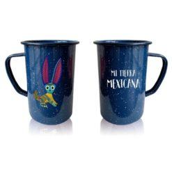 Tarro Peltre Esencia Mexicana modelo Conejo Azul