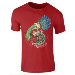 Playera Textil Calaca de Azucar modelo Caballero Águila Caballero Azul Marino